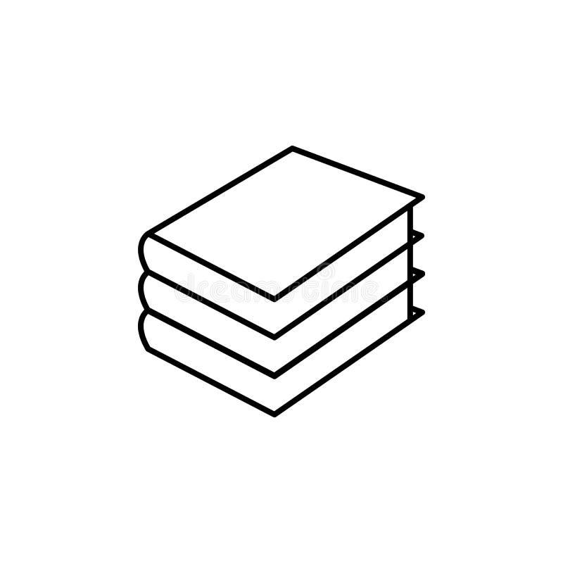 Stapel der Buchikone Element der Netzikone für bewegliches Konzept und w lizenzfreie abbildung