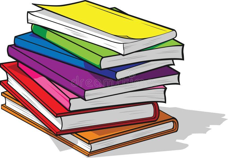 Stapel der bunten Bücher stock abbildung