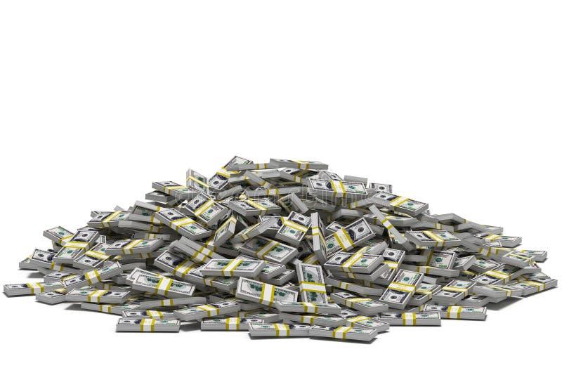 Stapel der Dollar lizenzfreies stockbild