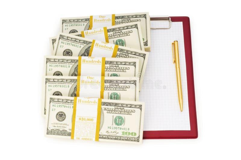 Stapel der Dollar und des Leerzeichens stockfotografie