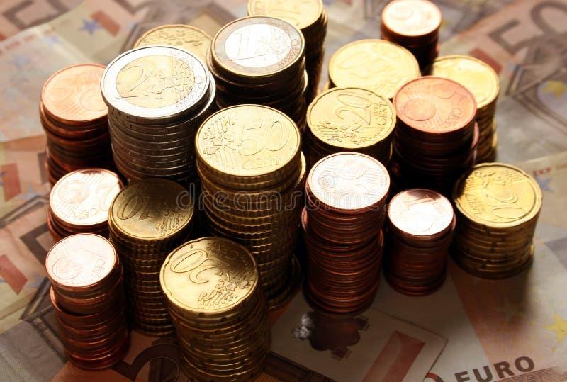 Stapel Der Euromünzen Kostenlose Stockbilder