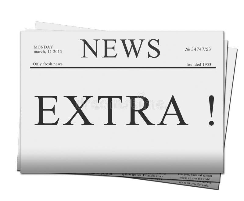 Extrafrage der Zeitungen stock abbildung