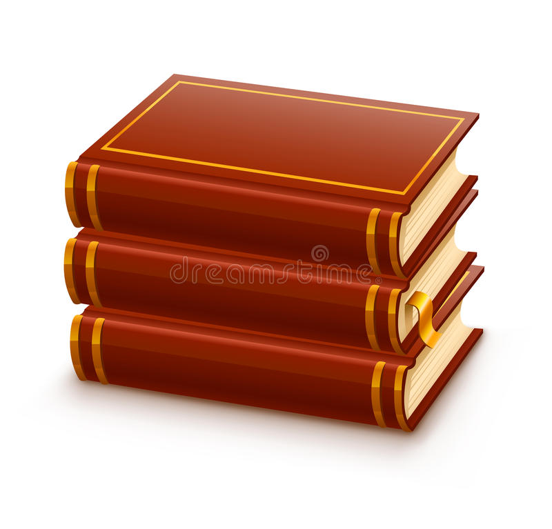 Stapel der geschlossenen roten Bücher lizenzfreie abbildung