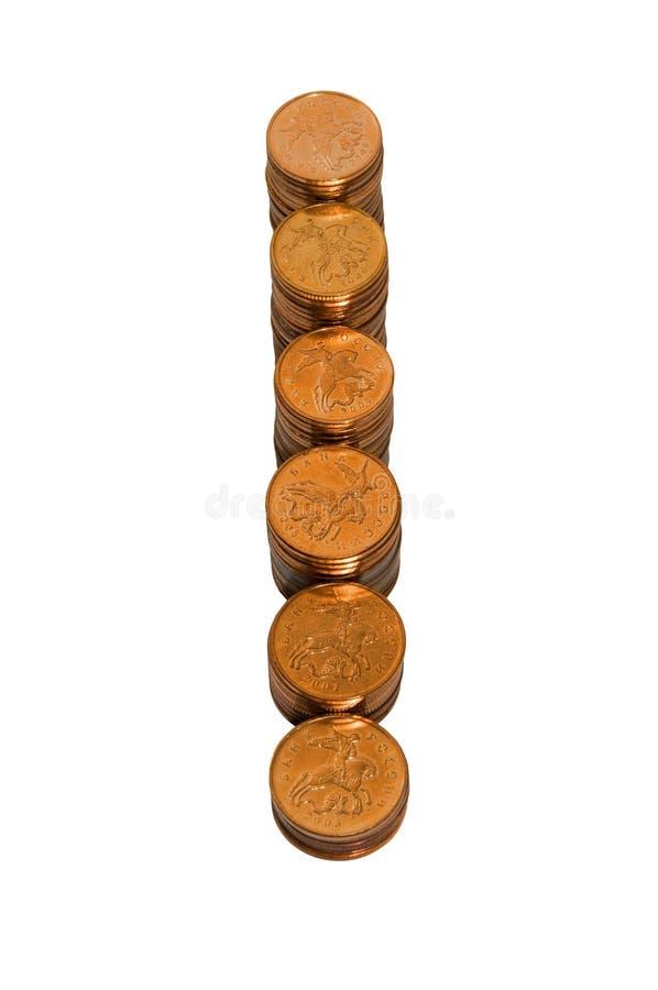 Stapel der goldenen Münzen lizenzfreie stockfotografie