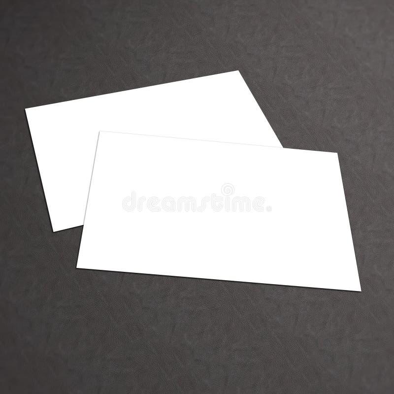Stapel der leeren Visitenkarte auf weißem strukturiertem Hintergrund lizenzfreies stockbild