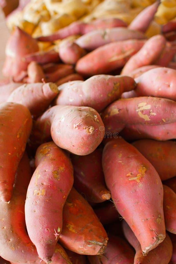 Stapel der süßen Kartoffeln lizenzfreie stockbilder