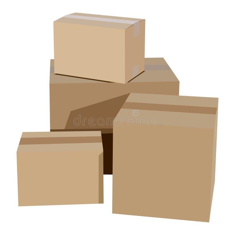 Stapel der Sammelpacks lizenzfreie abbildung