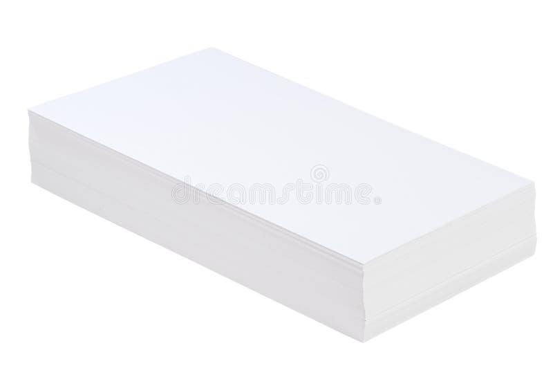 Stapel des Weißbuches lizenzfreies stockbild