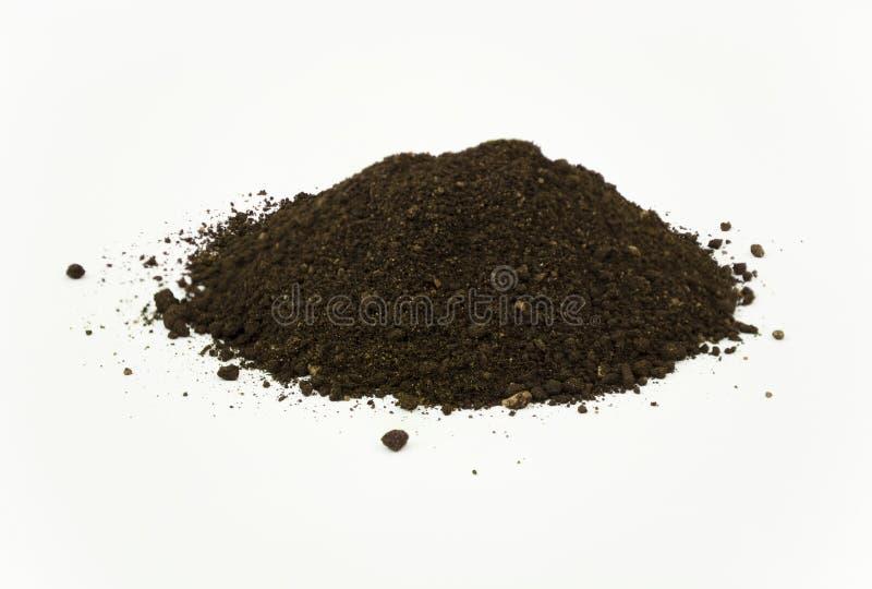 Stapel des Wurm-Humus-Bodens lizenzfreie stockfotografie