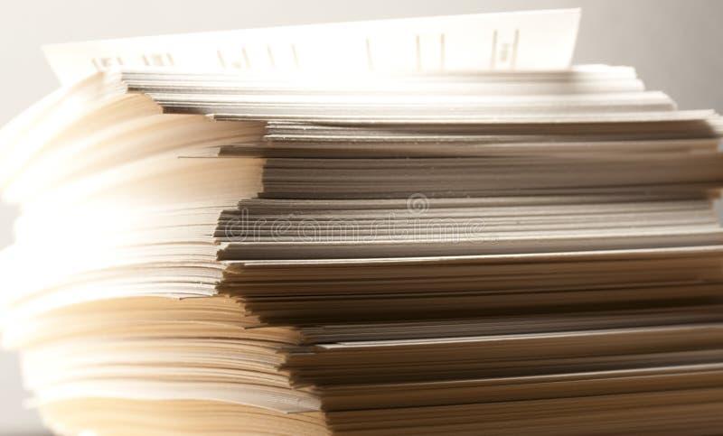 Stapel document kaarten stock afbeelding