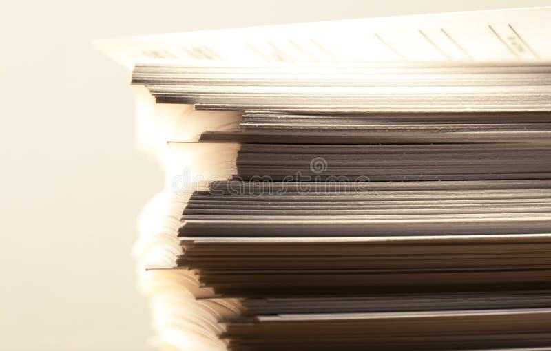 Stapel document kaarten royalty-vrije stock foto's