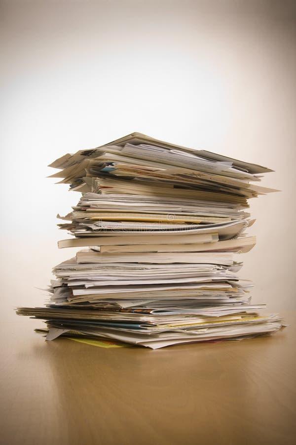 Stapel documenten royalty-vrije stock fotografie