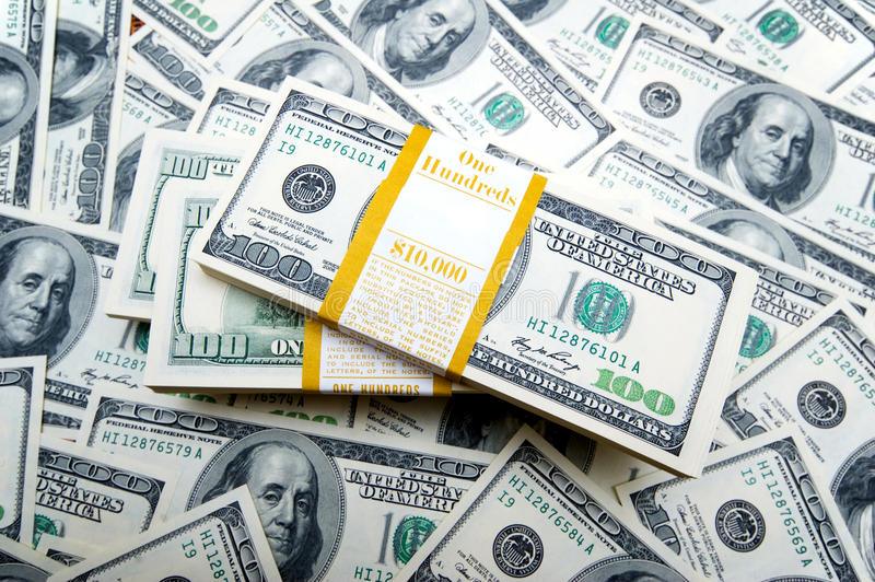 Stapel Dollar stockfotos