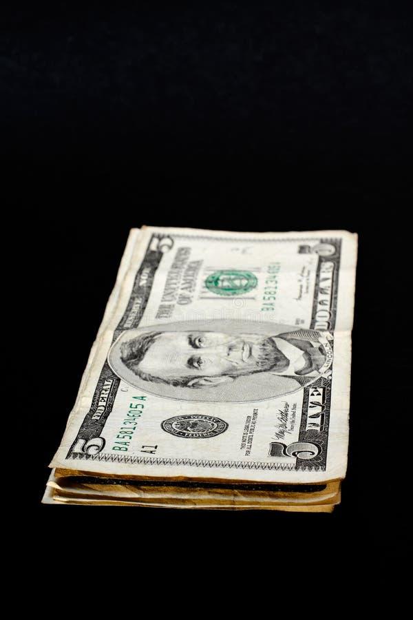 Stapel dollarrekeningen royalty-vrije stock afbeelding