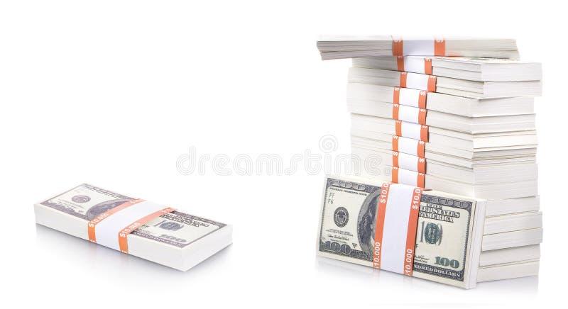 Stapel dollars royalty-vrije stock foto's
