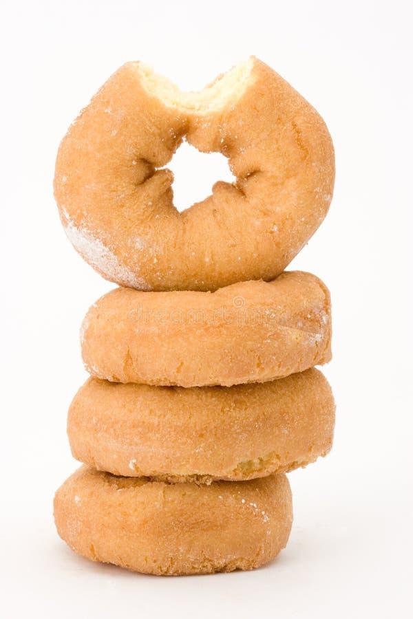 Stapel duidelijke donuts stock foto's