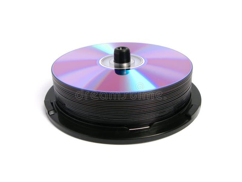 Stapel DVDs en CDs royalty-vrije stock foto's
