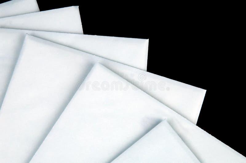 Stapel enveloppen royalty-vrije stock foto's