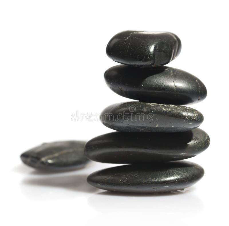 Stapel in evenwicht brengende stenen stock afbeelding