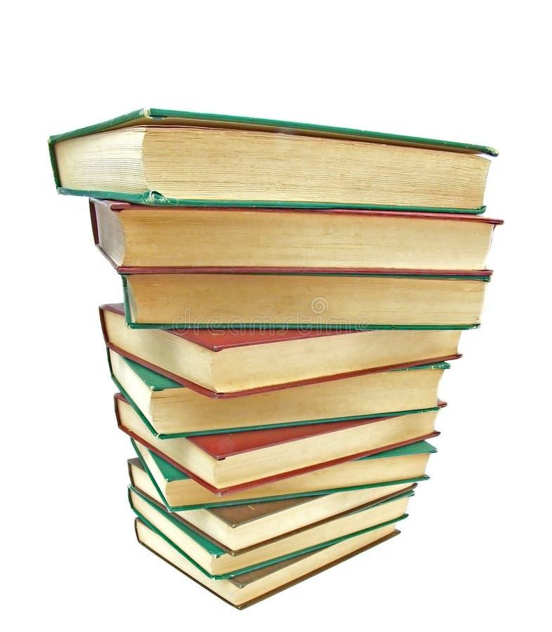 stapel för 02 böcker arkivfoto