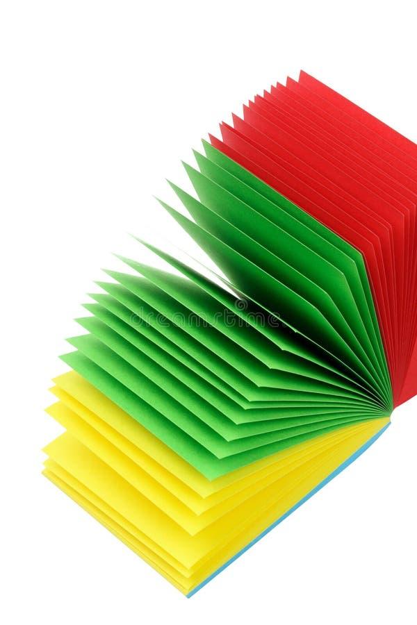 Stapel Farben-Protokoll-Papiere stockbilder