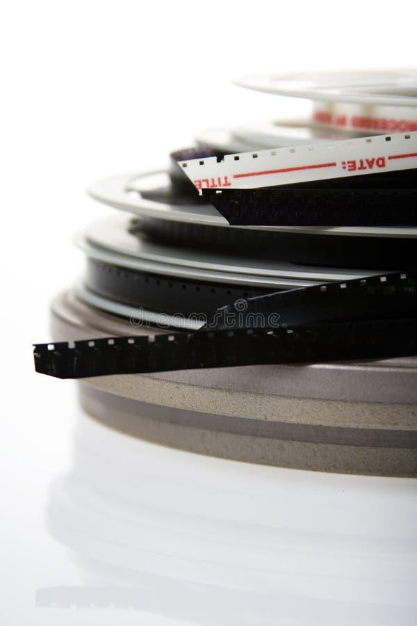 stapel filmspoelen stock fotografie