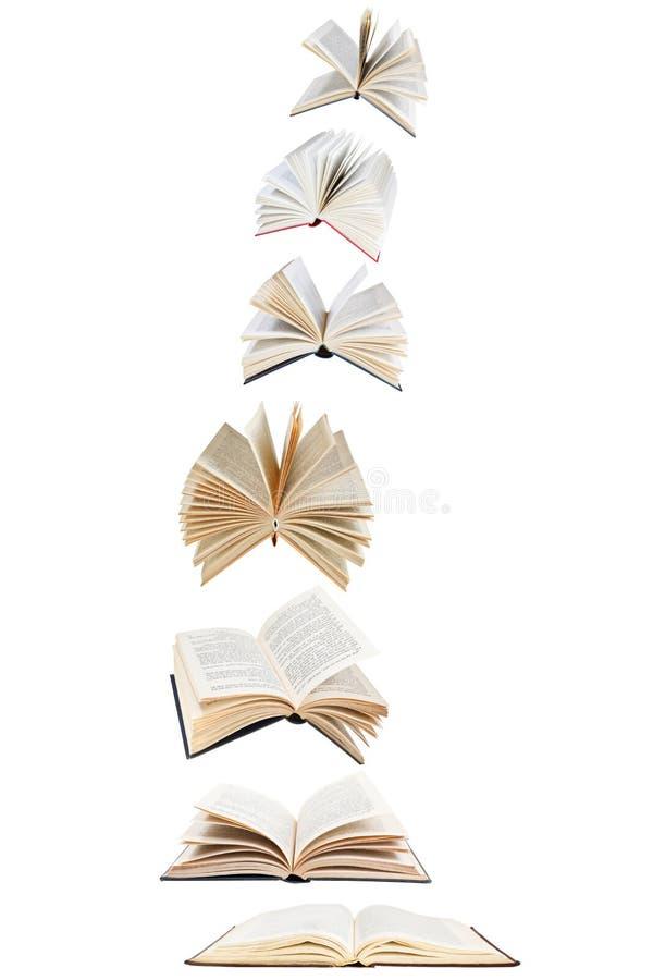 Stapel Fliegenbücher lizenzfreie stockbilder