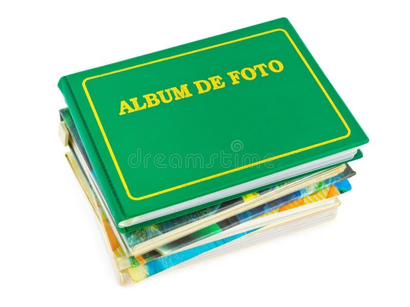 Stapel fotoalbums stock afbeelding