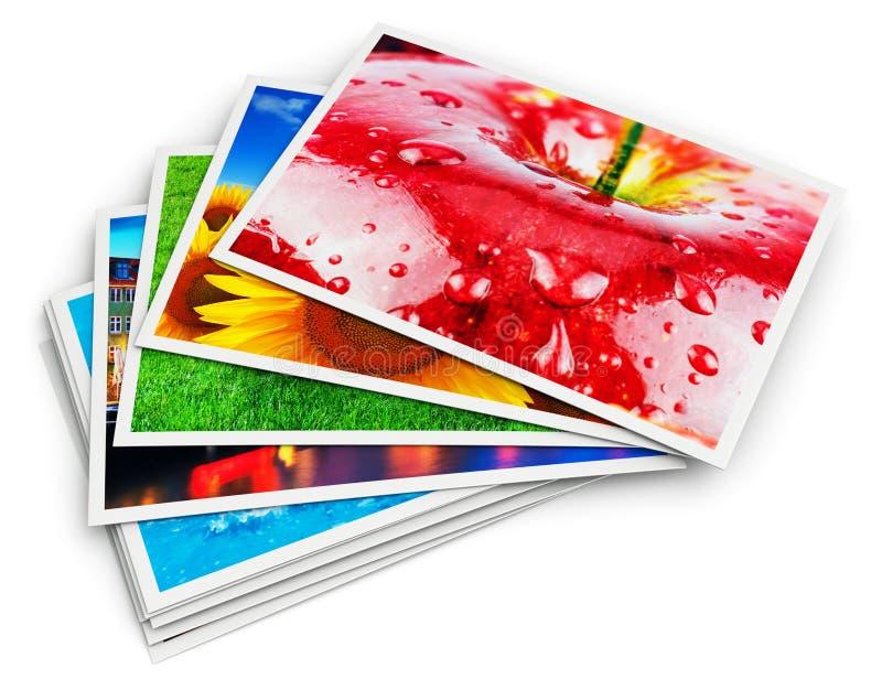 Stapel fotokaarten royalty-vrije illustratie