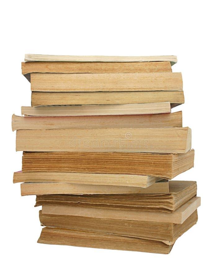 Stapel gelb gefärbte Bücher #2 lizenzfreie stockfotos