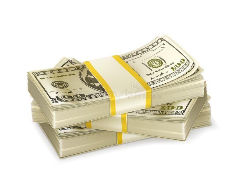 Stapel Geld stock abbildung