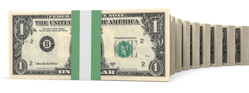 Stapel Geld Ein Dollar vektor abbildung