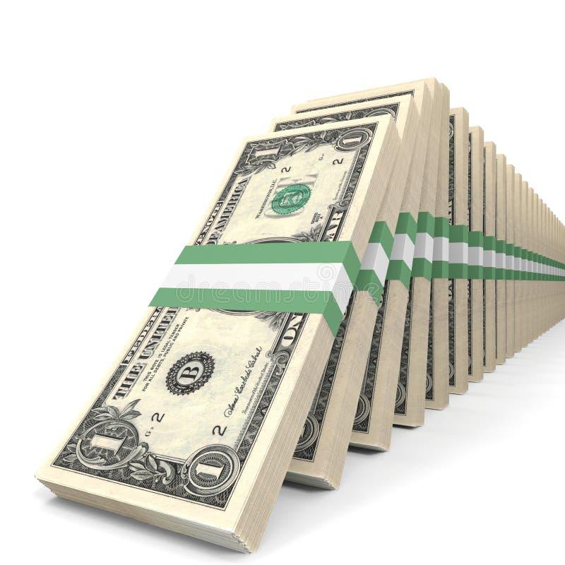 Stapel Geld Ein Dollar stock abbildung