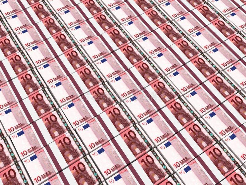 Stapel Geld 10 Euro stock abbildung