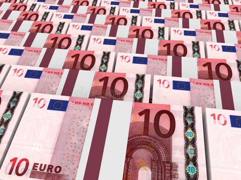 Stapel Geld 10 Euro vektor abbildung