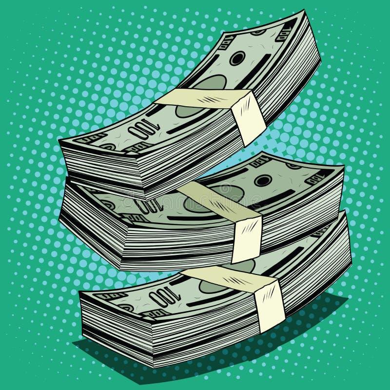 Stapel GeldDollarscheinbargeld vektor abbildung