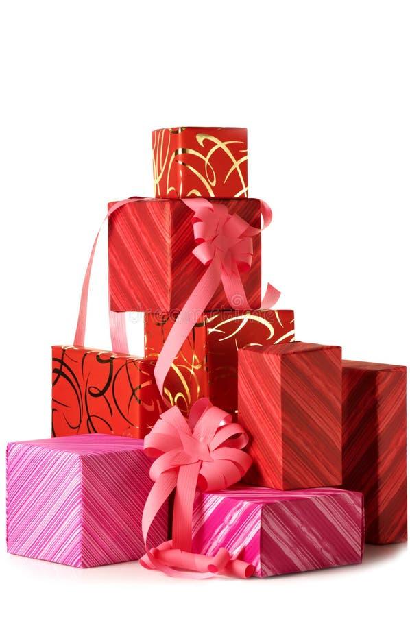 Stapel Geschenke stockfotografie