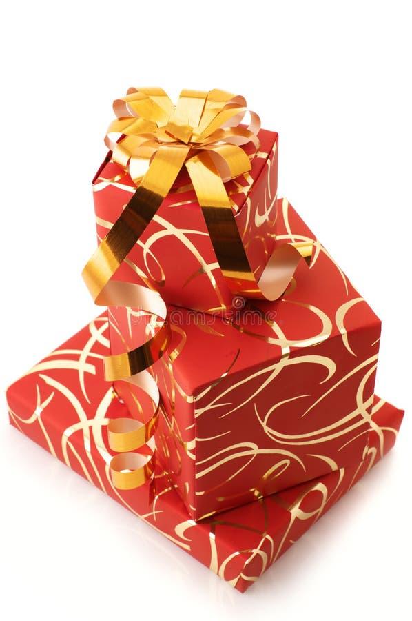 Stapel Geschenke lizenzfreie stockbilder