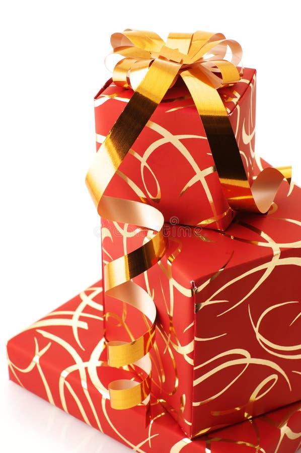Stapel Geschenke stockfoto