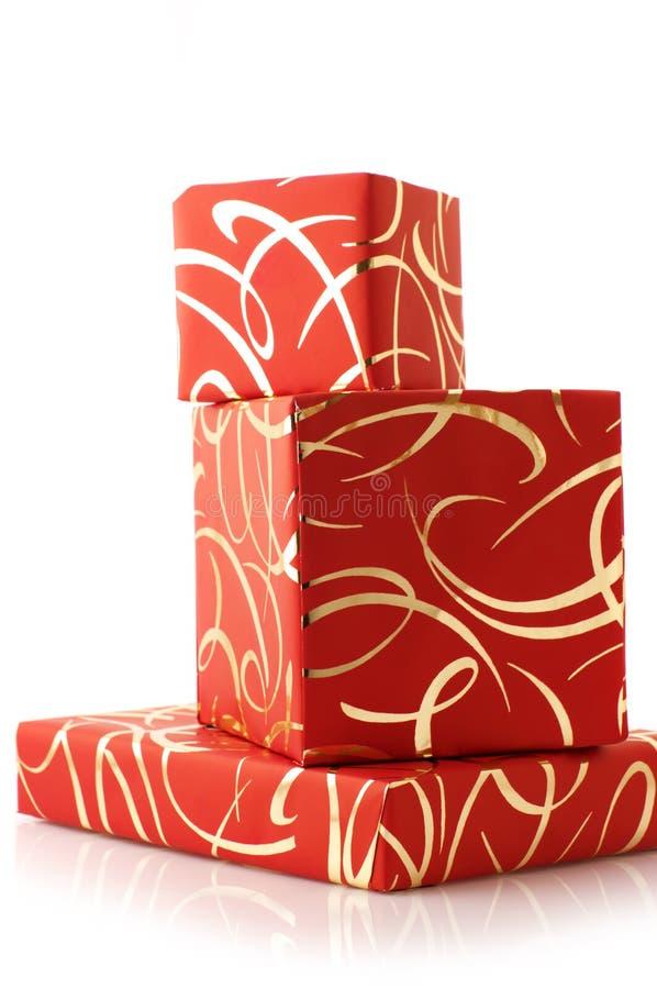 Stapel Geschenke lizenzfreies stockfoto