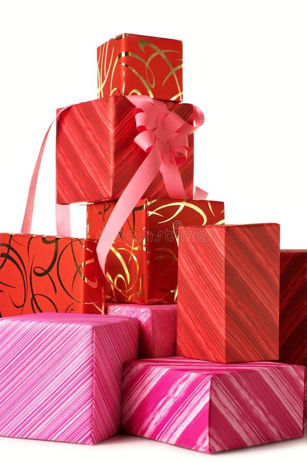 Stapel Geschenke stockbilder