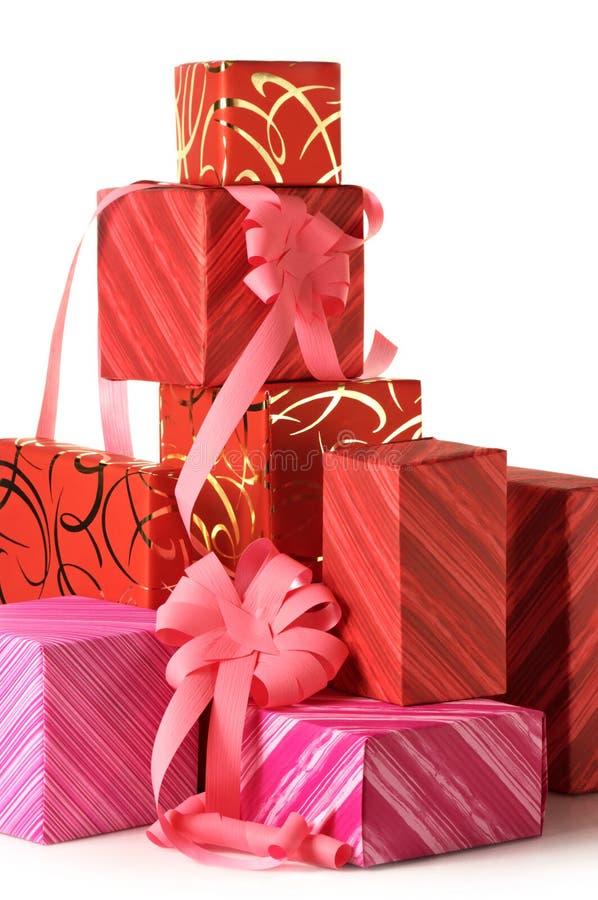 Stapel Geschenke lizenzfreie stockfotos