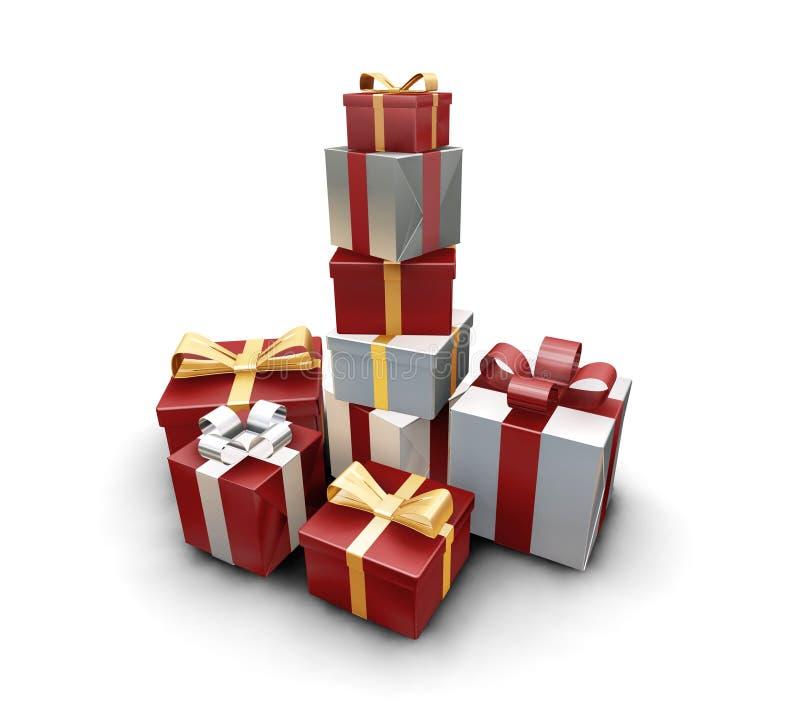Stapel Geschenke stock abbildung