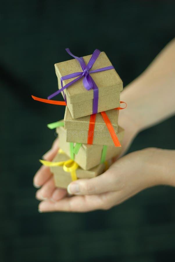 Stapel Geschenke lizenzfreies stockbild