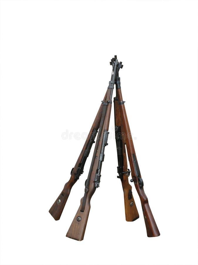 Stapel geweren royalty-vrije stock foto's