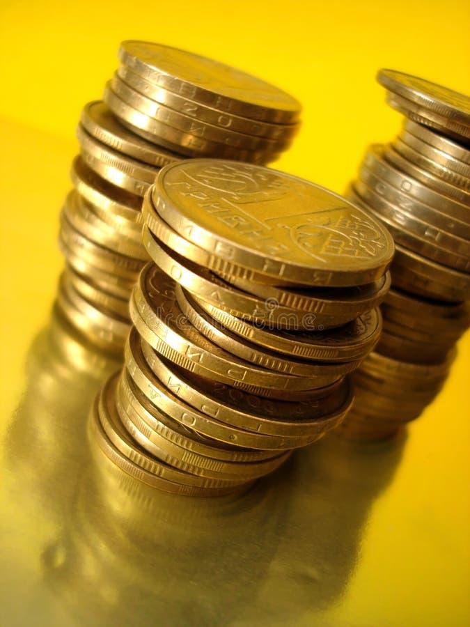 Stapel goldene Münzen lizenzfreies stockbild