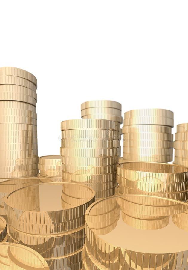 Download Stapel Goldmünzen. stock abbildung. Illustration von einkommen - 26372334