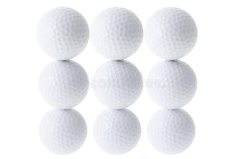 Stapel Golfbälle lizenzfreies stockfoto