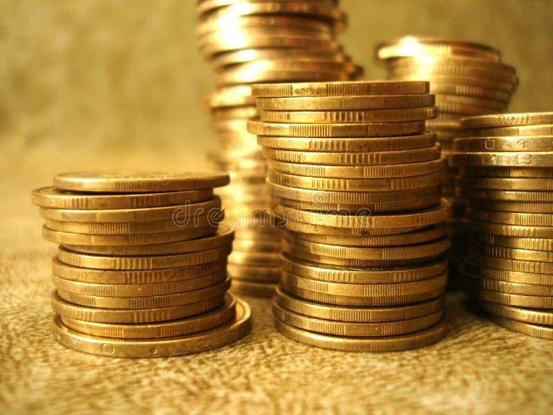 Stapel gouden muntstukken royalty-vrije stock afbeelding