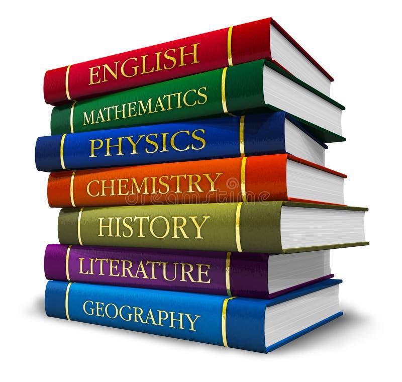 Stapel handboeken vector illustratie